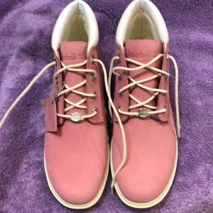 Timberland Waterproof Leather Boots Pink 9M